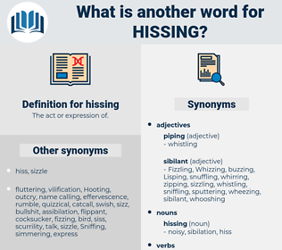 hissing, synonym hissing, another word for hissing, words like hissing, thesaurus hissing