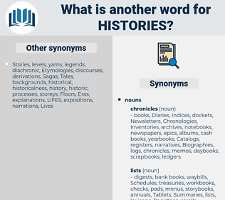 Histories, synonym Histories, another word for Histories, words like Histories, thesaurus Histories