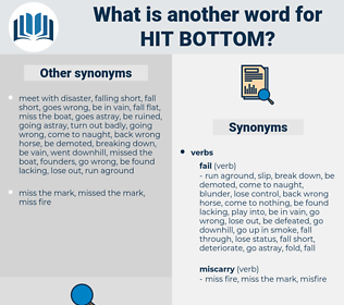 hit bottom, synonym hit bottom, another word for hit bottom, words like hit bottom, thesaurus hit bottom