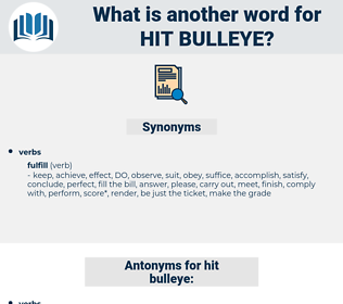 hit bulleye, synonym hit bulleye, another word for hit bulleye, words like hit bulleye, thesaurus hit bulleye