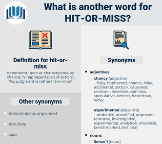 hit-or-miss, synonym hit-or-miss, another word for hit-or-miss, words like hit-or-miss, thesaurus hit-or-miss