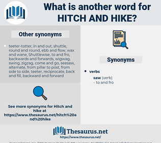 hitch and hike, synonym hitch and hike, another word for hitch and hike, words like hitch and hike, thesaurus hitch and hike