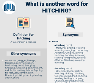 Hitching, synonym Hitching, another word for Hitching, words like Hitching, thesaurus Hitching