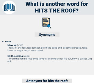 hits the roof, synonym hits the roof, another word for hits the roof, words like hits the roof, thesaurus hits the roof