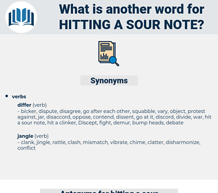 hitting a sour note, synonym hitting a sour note, another word for hitting a sour note, words like hitting a sour note, thesaurus hitting a sour note
