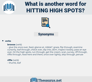 hitting high spots, synonym hitting high spots, another word for hitting high spots, words like hitting high spots, thesaurus hitting high spots