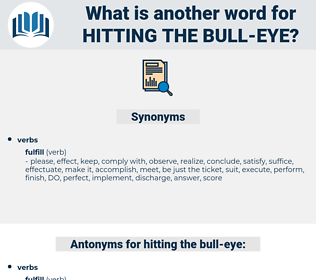 hitting the bull eye, synonym hitting the bull eye, another word for hitting the bull eye, words like hitting the bull eye, thesaurus hitting the bull eye