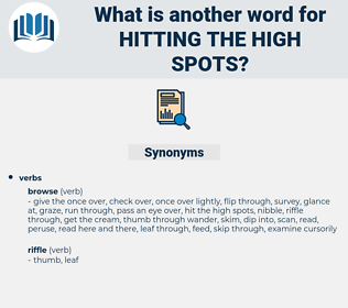 hitting the high spots, synonym hitting the high spots, another word for hitting the high spots, words like hitting the high spots, thesaurus hitting the high spots