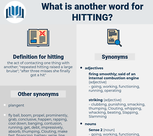 hitting, synonym hitting, another word for hitting, words like hitting, thesaurus hitting
