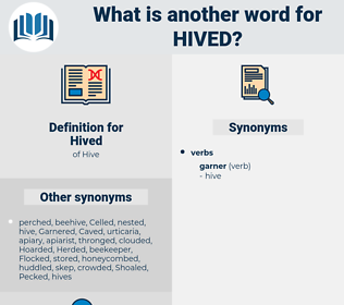 Hived, synonym Hived, another word for Hived, words like Hived, thesaurus Hived