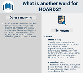 hoards, synonym hoards, another word for hoards, words like hoards, thesaurus hoards