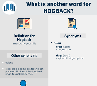 Hogback, synonym Hogback, another word for Hogback, words like Hogback, thesaurus Hogback