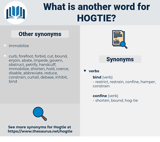 hogtie, synonym hogtie, another word for hogtie, words like hogtie, thesaurus hogtie