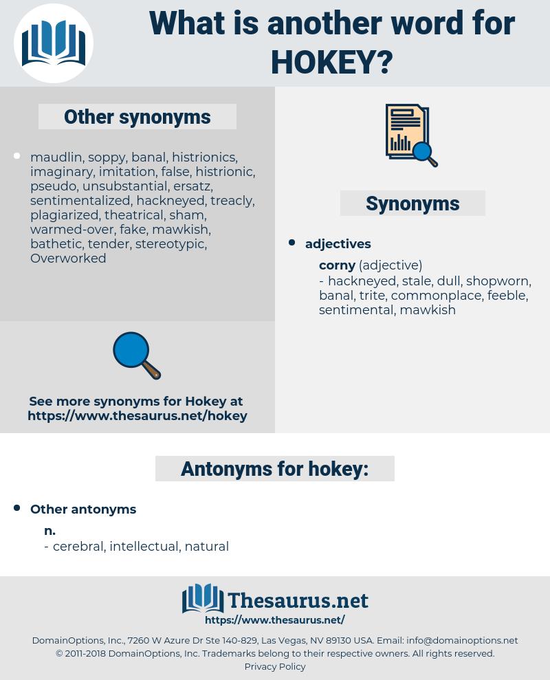 hokey, synonym hokey, another word for hokey, words like hokey, thesaurus hokey