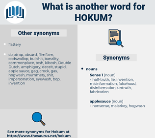 hokum, synonym hokum, another word for hokum, words like hokum, thesaurus hokum
