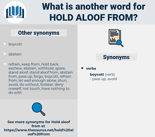 hold aloof from, synonym hold aloof from, another word for hold aloof from, words like hold aloof from, thesaurus hold aloof from
