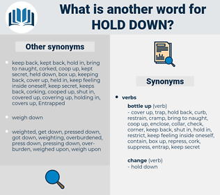 hold down, synonym hold down, another word for hold down, words like hold down, thesaurus hold down