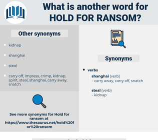 hold for ransom, synonym hold for ransom, another word for hold for ransom, words like hold for ransom, thesaurus hold for ransom