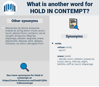 hold in contempt, synonym hold in contempt, another word for hold in contempt, words like hold in contempt, thesaurus hold in contempt
