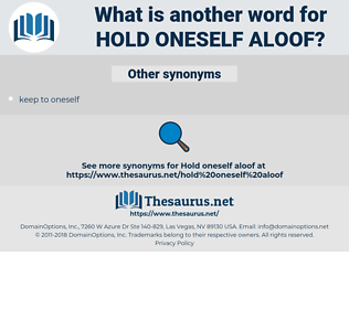 hold oneself aloof, synonym hold oneself aloof, another word for hold oneself aloof, words like hold oneself aloof, thesaurus hold oneself aloof