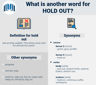 hold out, synonym hold out, another word for hold out, words like hold out, thesaurus hold out