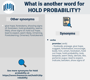 hold probability, synonym hold probability, another word for hold probability, words like hold probability, thesaurus hold probability