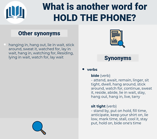 hold the phone, synonym hold the phone, another word for hold the phone, words like hold the phone, thesaurus hold the phone