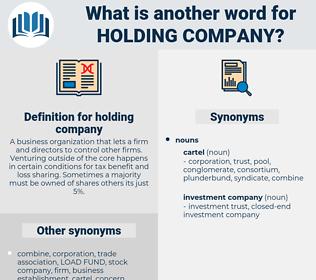 holding company, synonym holding company, another word for holding company, words like holding company, thesaurus holding company