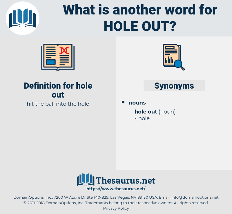 hole out, synonym hole out, another word for hole out, words like hole out, thesaurus hole out