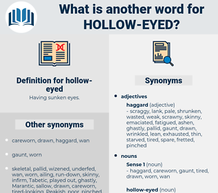hollow eyed, synonym hollow eyed, another word for hollow eyed, words like hollow eyed, thesaurus hollow eyed