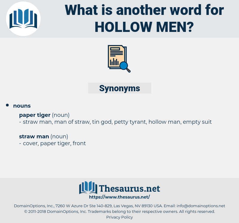 hollow men, synonym hollow men, another word for hollow men, words like hollow men, thesaurus hollow men