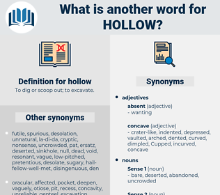 hollow, synonym hollow, another word for hollow, words like hollow, thesaurus hollow