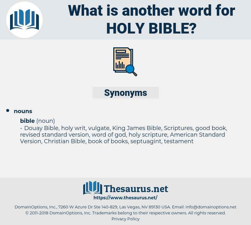 holy bible, synonym holy bible, another word for holy bible, words like holy bible, thesaurus holy bible