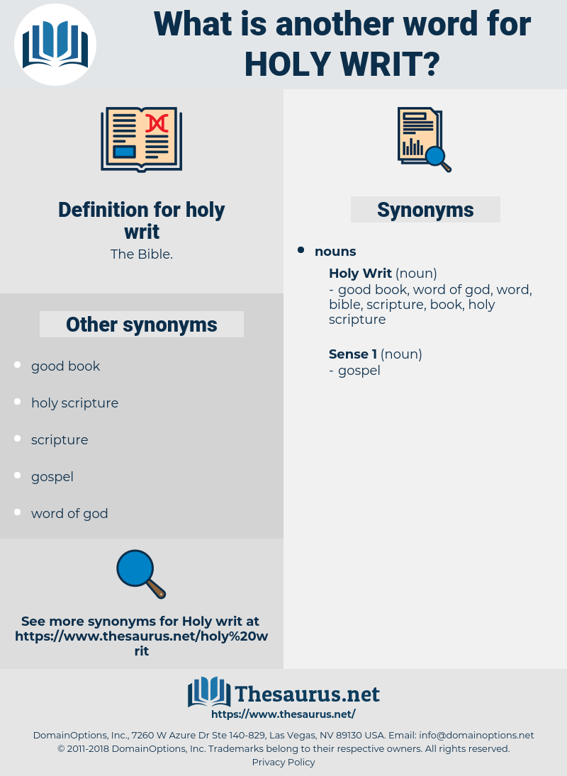 holy writ, synonym holy writ, another word for holy writ, words like holy writ, thesaurus holy writ
