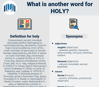 holy, synonym holy, another word for holy, words like holy, thesaurus holy