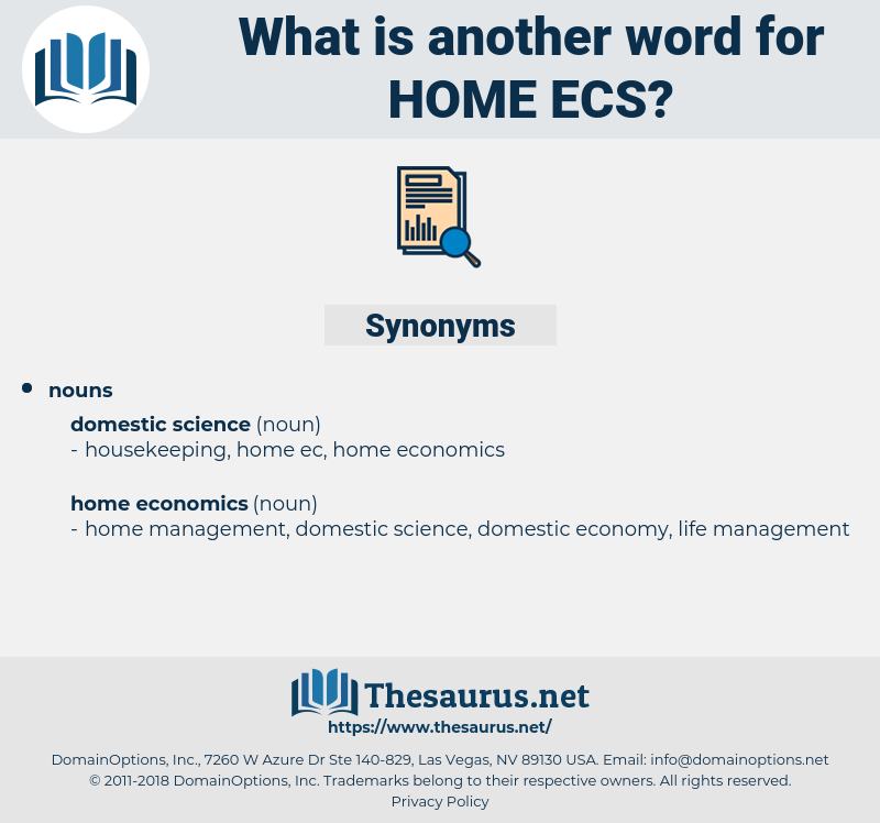 home ecs, synonym home ecs, another word for home ecs, words like home ecs, thesaurus home ecs