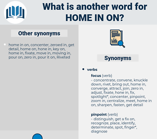 home in on, synonym home in on, another word for home in on, words like home in on, thesaurus home in on