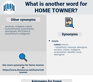 home towner, synonym home towner, another word for home towner, words like home towner, thesaurus home towner