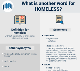 homeless, synonym homeless, another word for homeless, words like homeless, thesaurus homeless