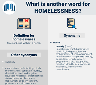 homelessness, synonym homelessness, another word for homelessness, words like homelessness, thesaurus homelessness