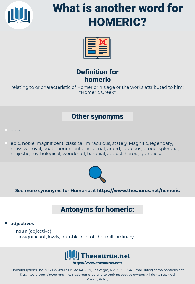 homeric, synonym homeric, another word for homeric, words like homeric, thesaurus homeric