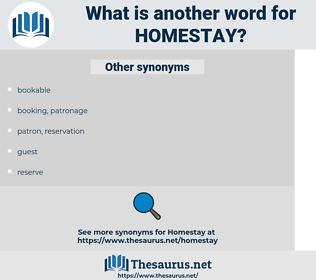 homestay, synonym homestay, another word for homestay, words like homestay, thesaurus homestay