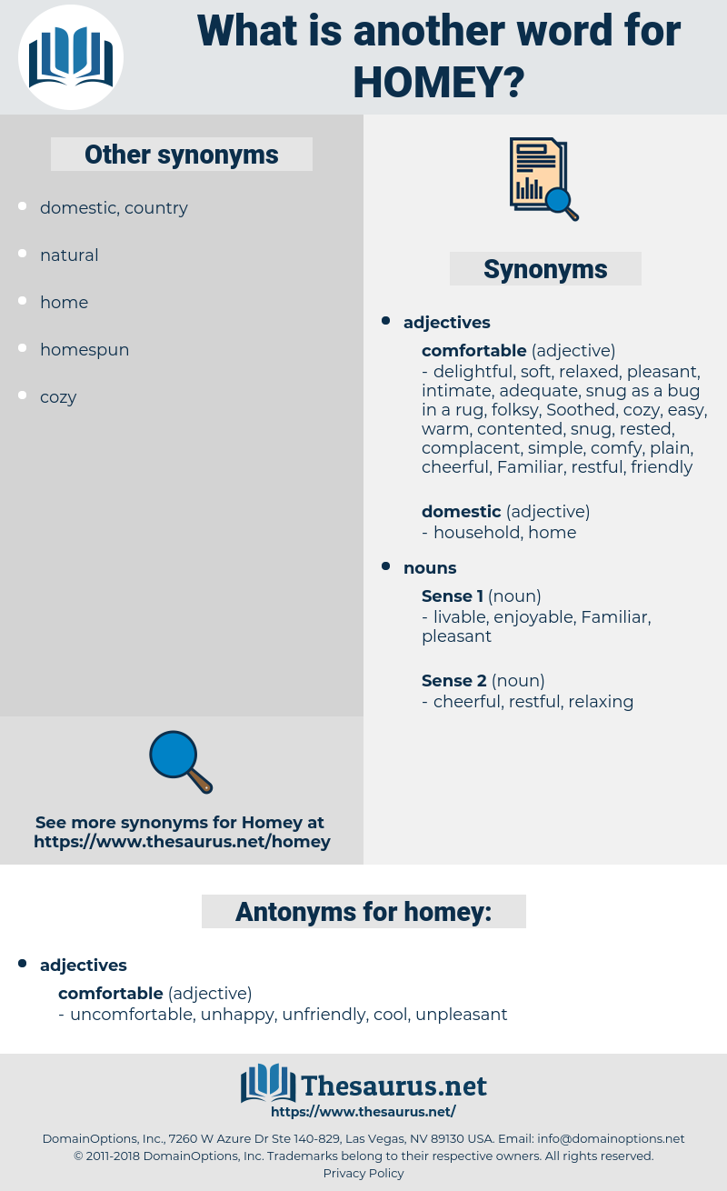 homey, synonym homey, another word for homey, words like homey, thesaurus homey