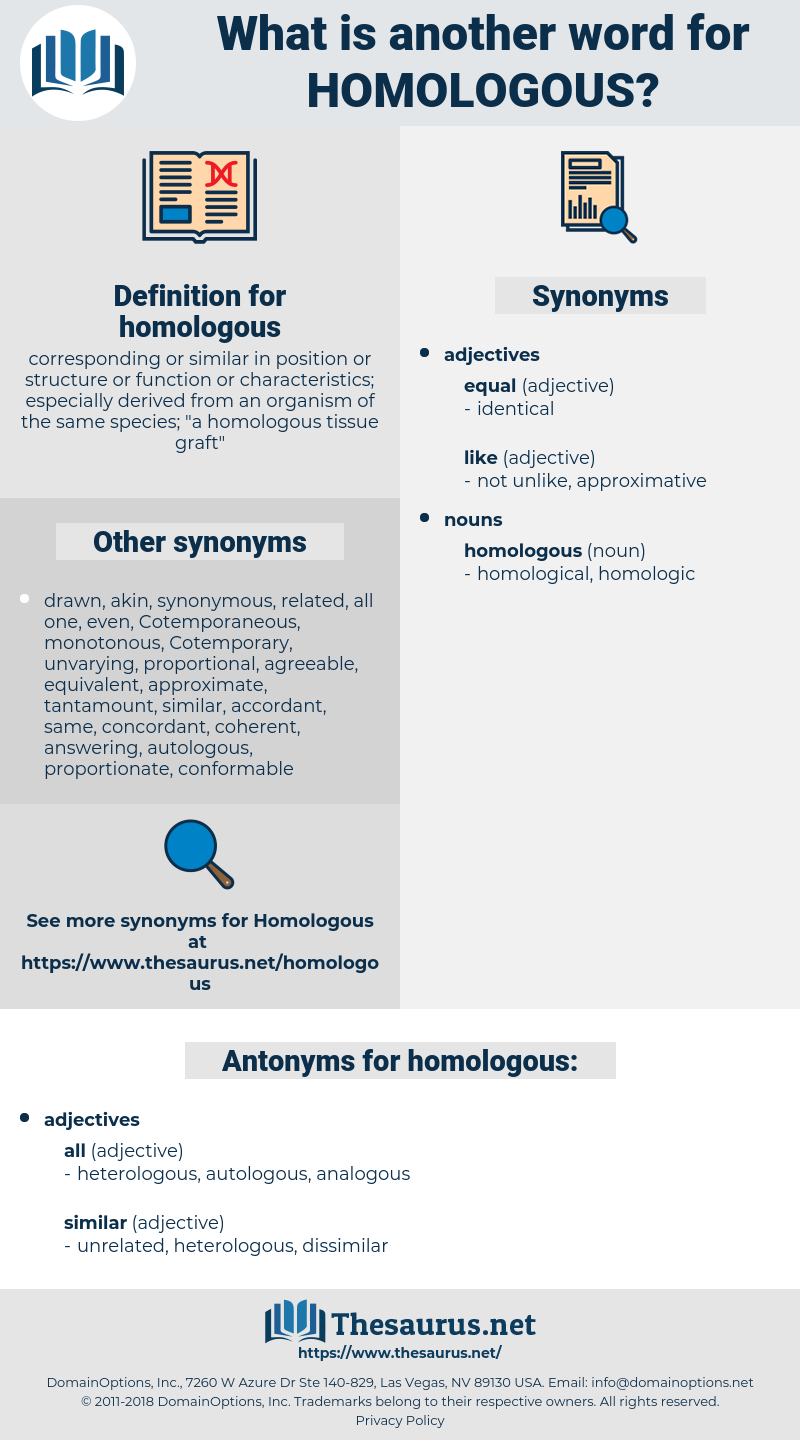 homologous, synonym homologous, another word for homologous, words like homologous, thesaurus homologous