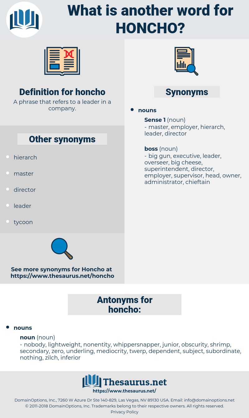 honcho, synonym honcho, another word for honcho, words like honcho, thesaurus honcho