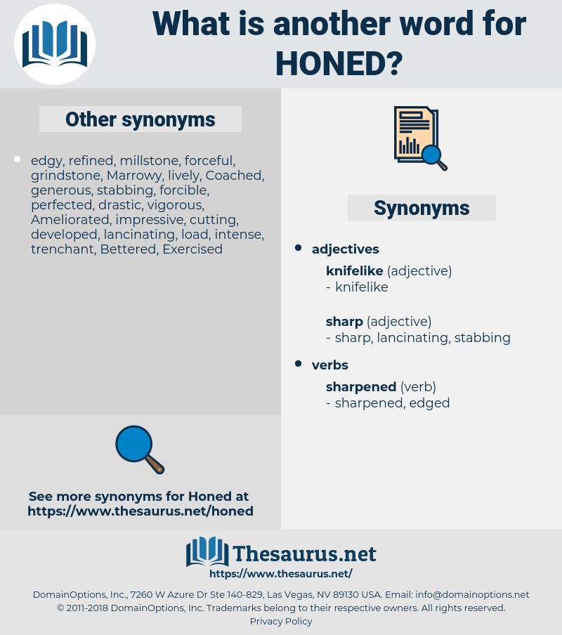 Honed, synonym Honed, another word for Honed, words like Honed, thesaurus Honed