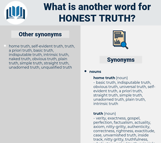 honest truth, synonym honest truth, another word for honest truth, words like honest truth, thesaurus honest truth