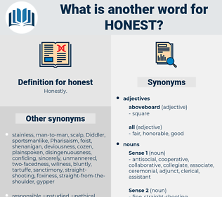 honest, synonym honest, another word for honest, words like honest, thesaurus honest