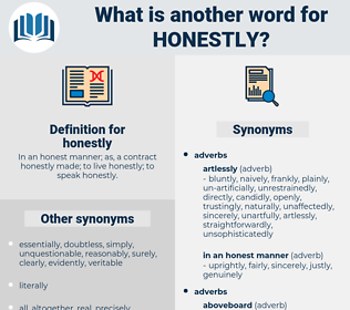honestly, synonym honestly, another word for honestly, words like honestly, thesaurus honestly