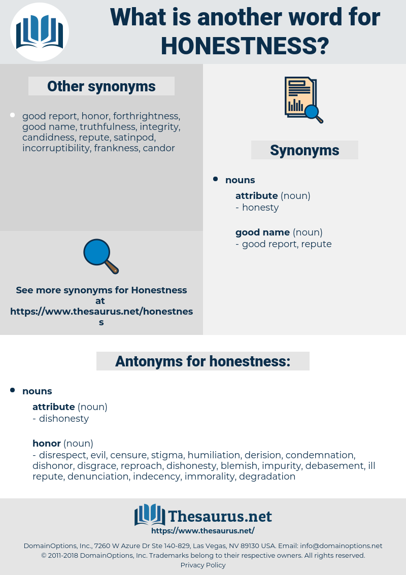 honestness, synonym honestness, another word for honestness, words like honestness, thesaurus honestness